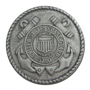 US Coast Guard USCG Seal Antique Silver