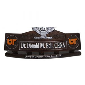 USCG USN Captain Desk Nameplate