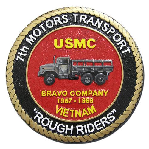 USMC 7th Motors Transport Rough Riders Seal