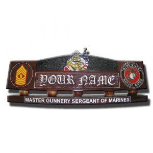 USMC Bulldog Desk Nameplate