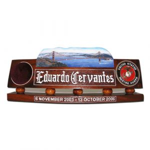 USMC Golden Gate Bridge Desk Nameplate