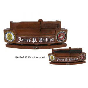 USMC KA-BAR Knife Holder Desk Nameplate
