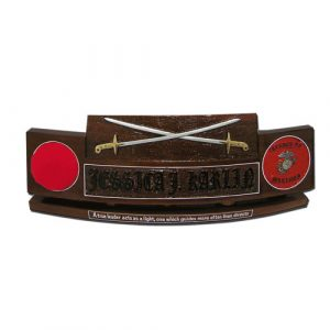 USMC Officers Sword Desk Nameplate