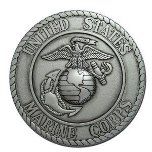 US Marines Corps USMC Seal Antique Silver