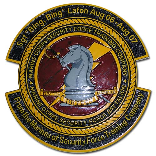 USMC Security Force Training Company Emblem