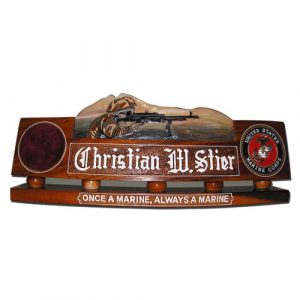 USMC Soldiers in Action Desk Nameplate