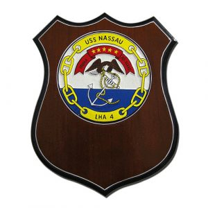 USS NASAU LHA4 Plaque