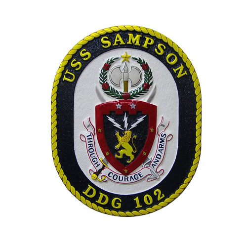 USS Sampson DDG-102 Emblem