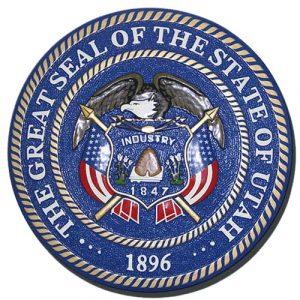 Utah State Seal Plaque