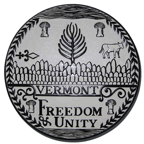 Vermont State Seal Plaque