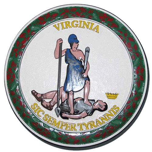 Virginia State Seal Plaque