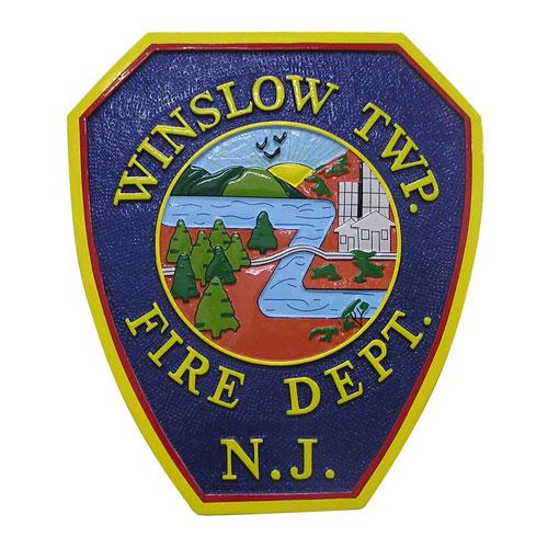 Winslow Township Fire Department Patch Plaque
