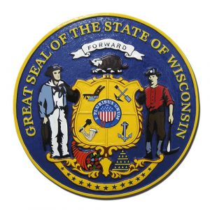 Wisconsin State Seal Plaque