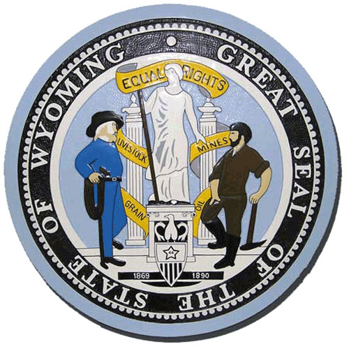 Wyoming State Seal Plaque