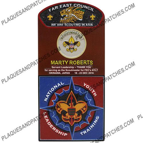 Scout Master Plaque