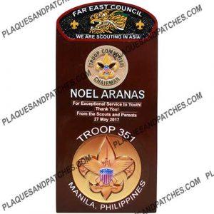 Troop Committee Chairman Plaque