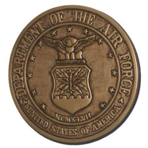 U.S. Air Force Seal Antique Gold