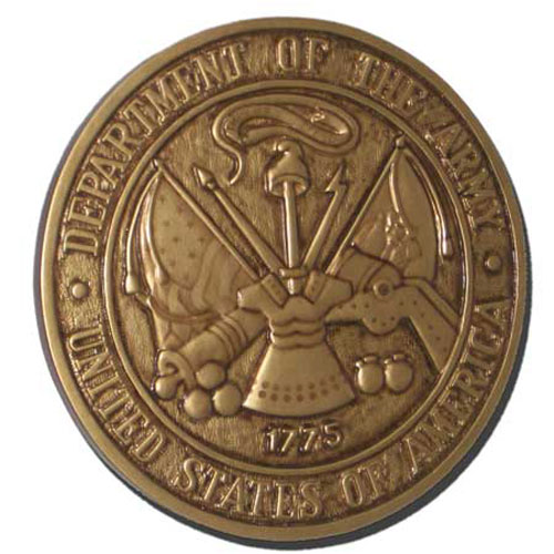 U.S. Army Seal Antique Gold