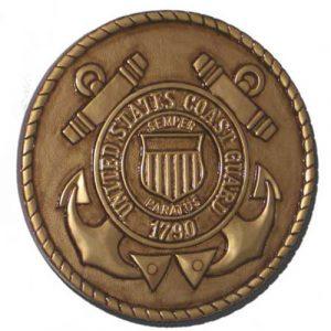 US Coast Guard USCG Seal Antique Gold