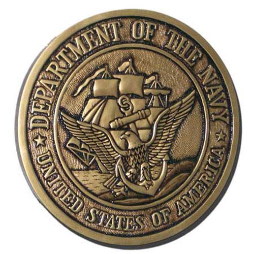 US Navy USN Seal Antique Gold