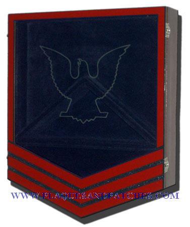US Coast Guard E6 Retirement / Shadow Box Colored