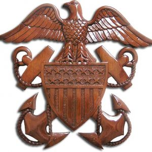 US Navy Officer's Crest Insignia Plaque