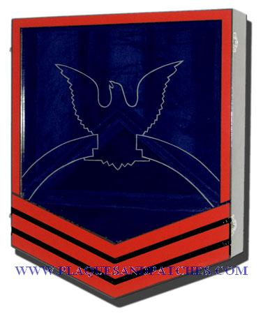 US Navy E7 Retirement / Shadow Box Colored