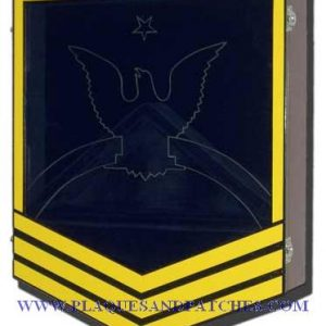 US Navy E8 Retirement / Shadow Box Colored