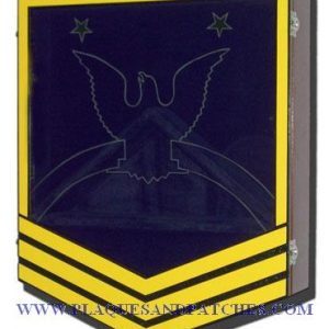 US Navy E9 Retirement / Shadow Box Colored